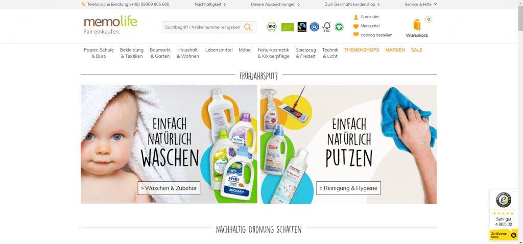 Der memo Online Shop. Eine gute Alternative zu Amazon