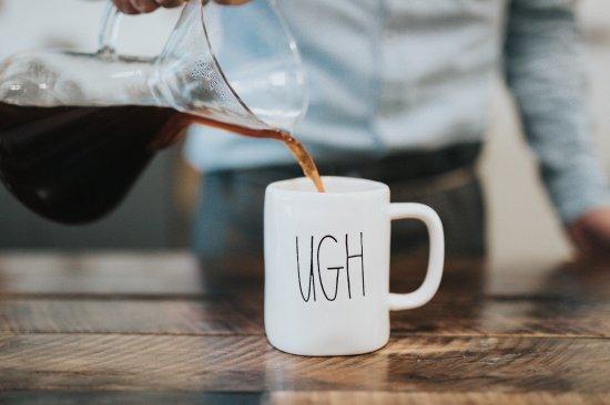 Kaffeetasse mit Statement zu nachhaltigem Business