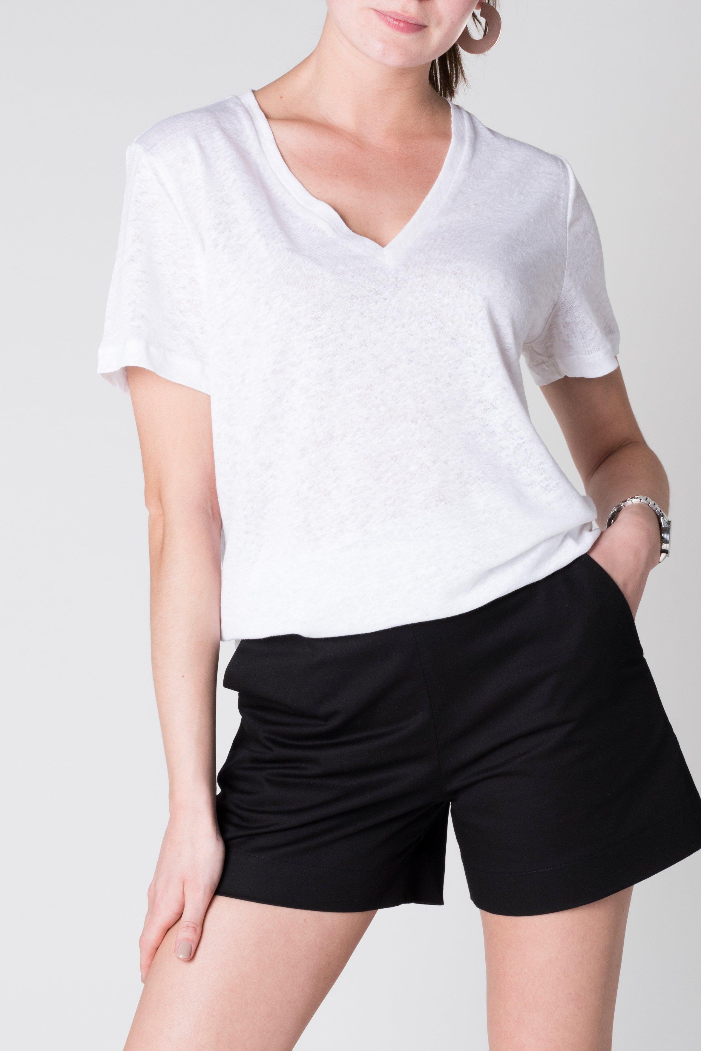 T-Shirt Vector Leinen Weiss from LOVECO