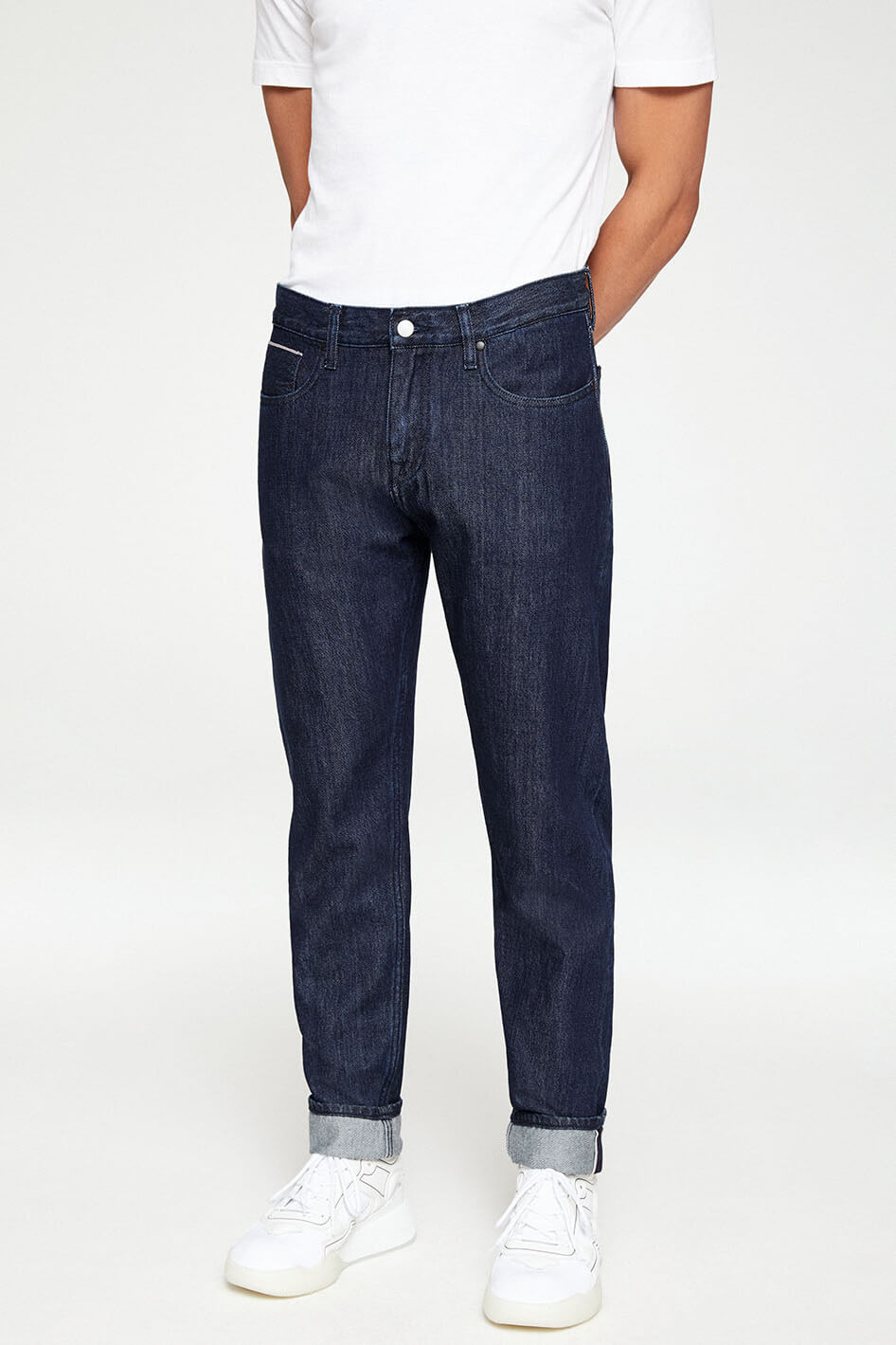 Jeans Aaro Selvedge Rinse Blau from LOVECO