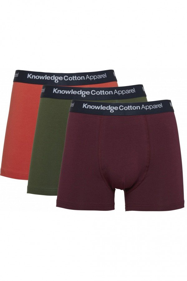 KnowledgeCotton Apparel BOXERSHORTS MAPLE 3PACK SEASONAL ROT LOV13860 1