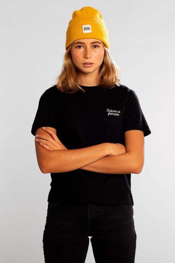dedicated T-Shirt Mysen Future is Female Schwarz LOV13994 1