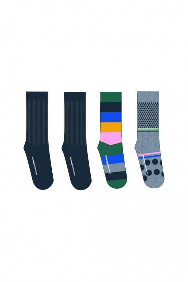 KnowledgeCotton Apparel SOCKEN 4 PACK BUNT MUSTER LOV11873 1