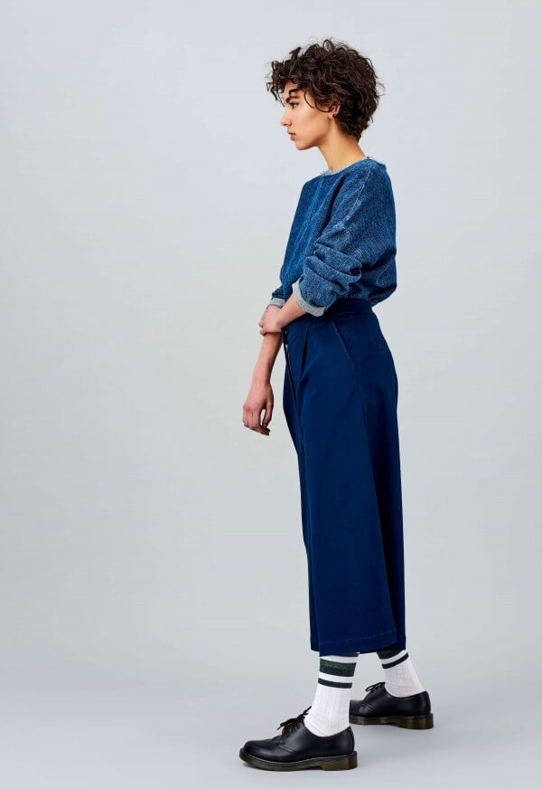 Blouse Amelia Blue Cotton Linen