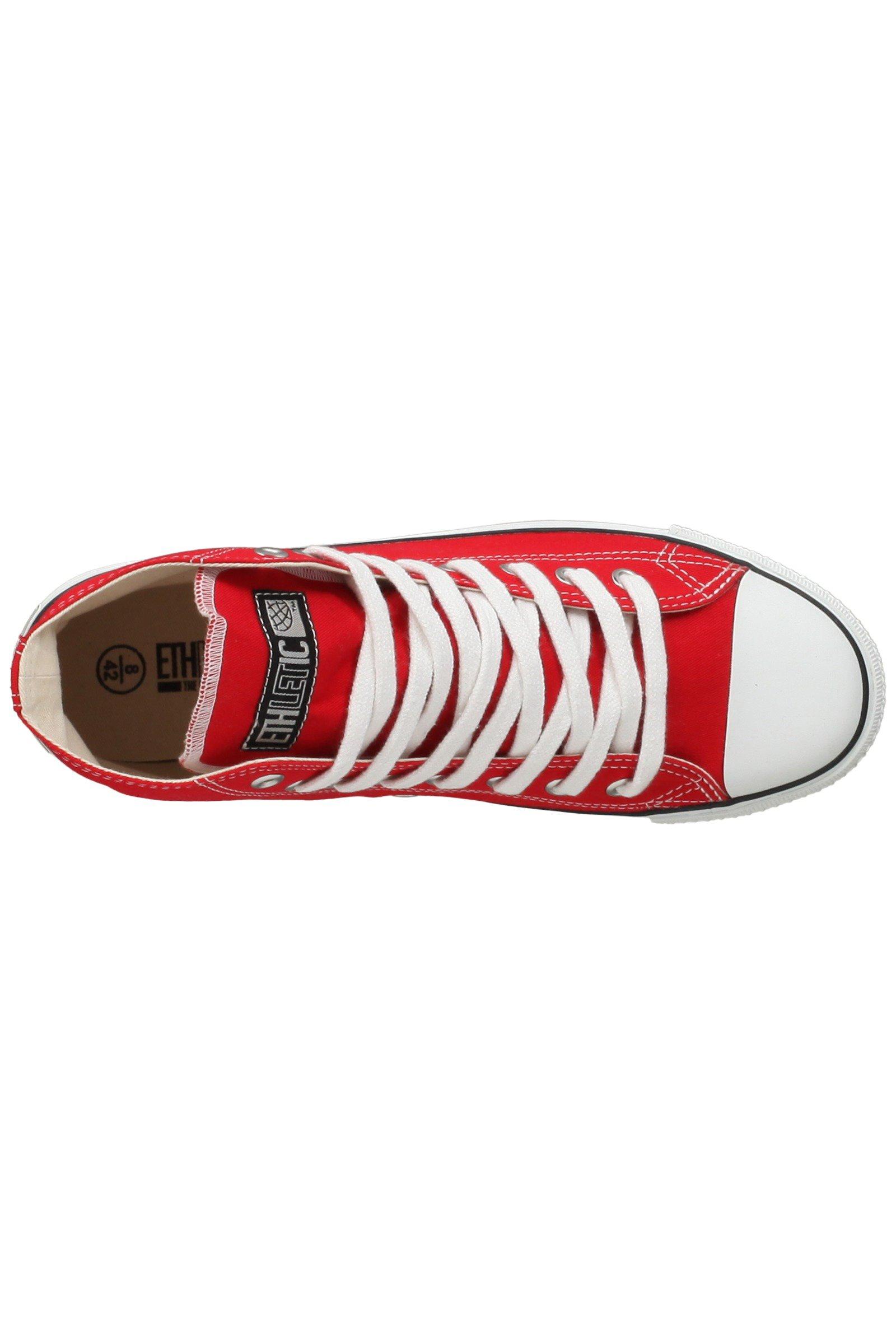 Sneaker Hoch Fair Trainer Rot