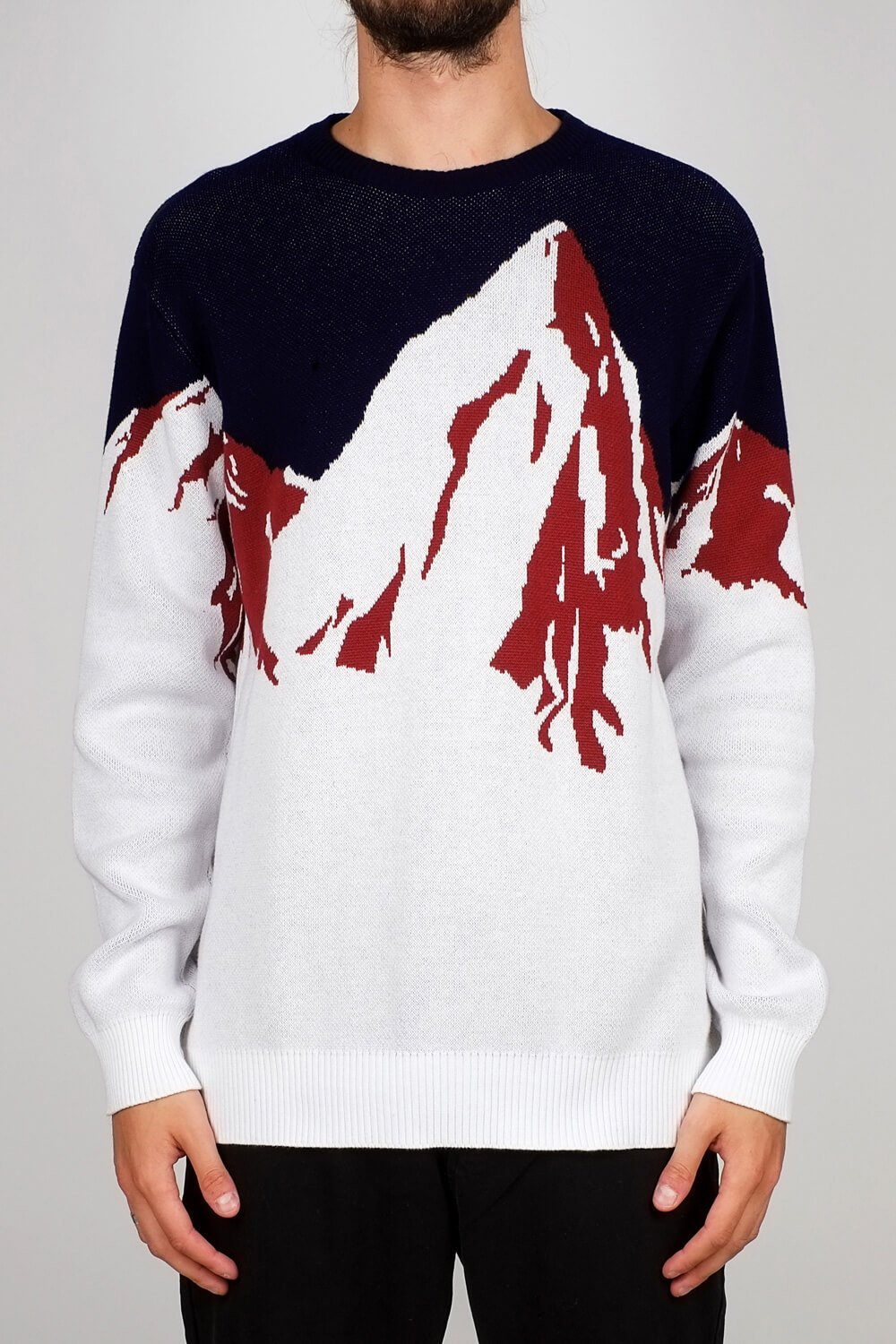 Sweatshirt Mora Enamel Mountains Off White