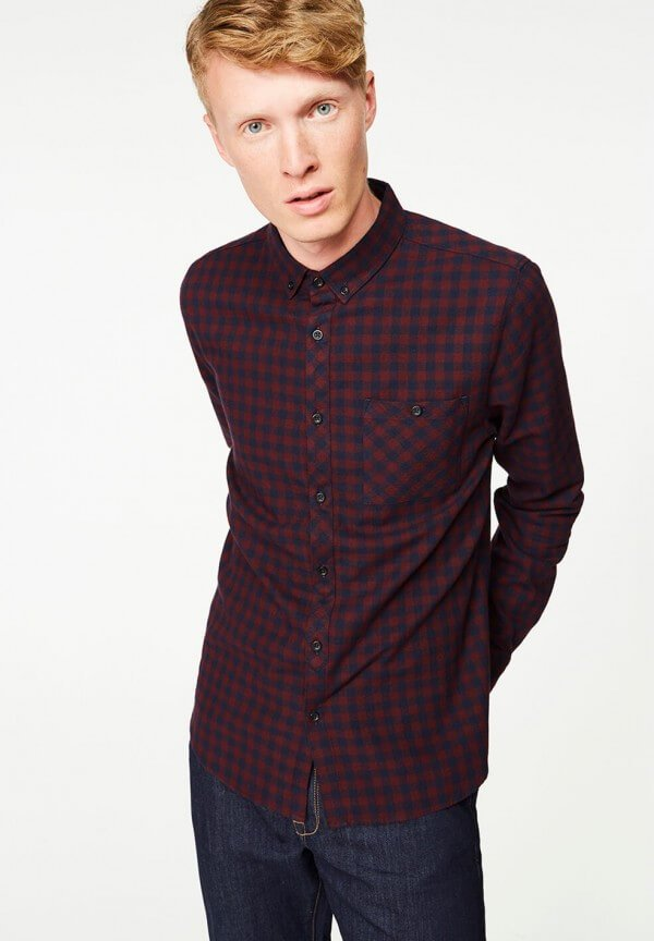 Shirt Benedict Check Dark Bordeaux