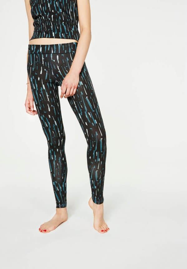LEGGINGS VEDA DASHES BLACK