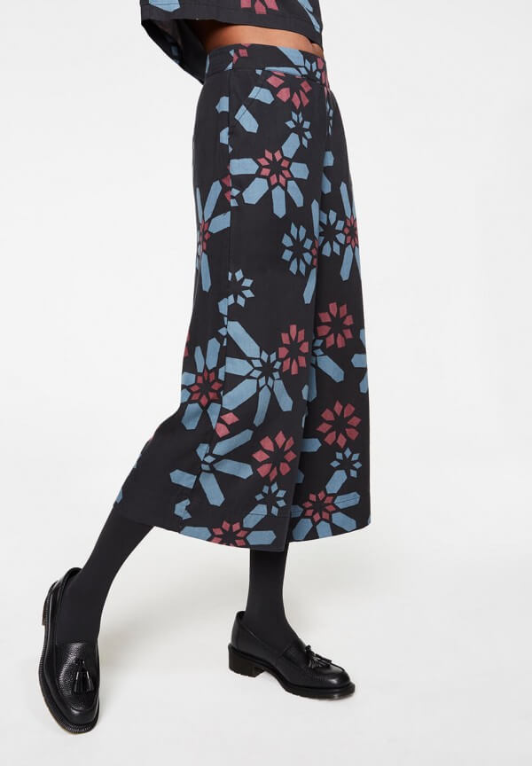 CULOTTE KARLI FLOWER MOSAIC BLACK