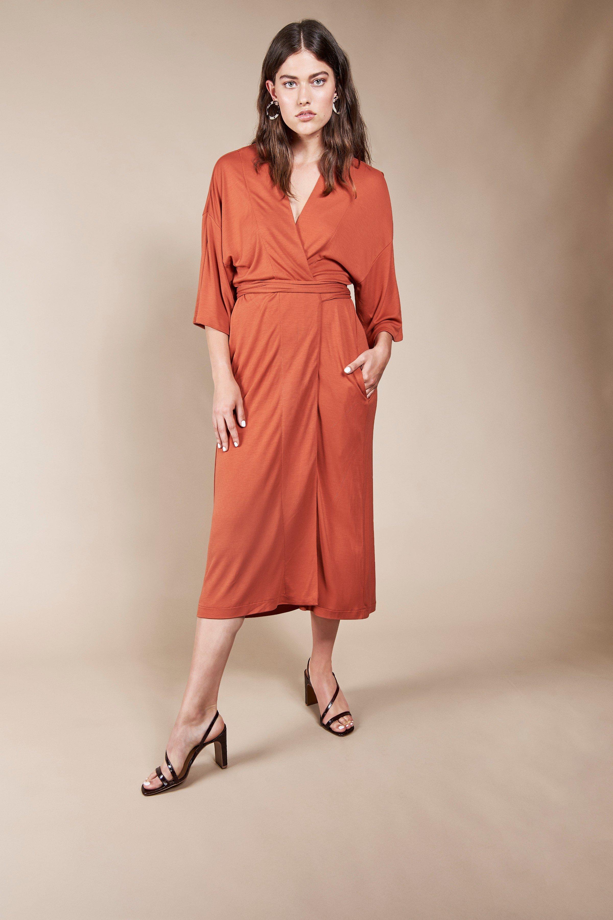 Kleid Kimono Airi Rot