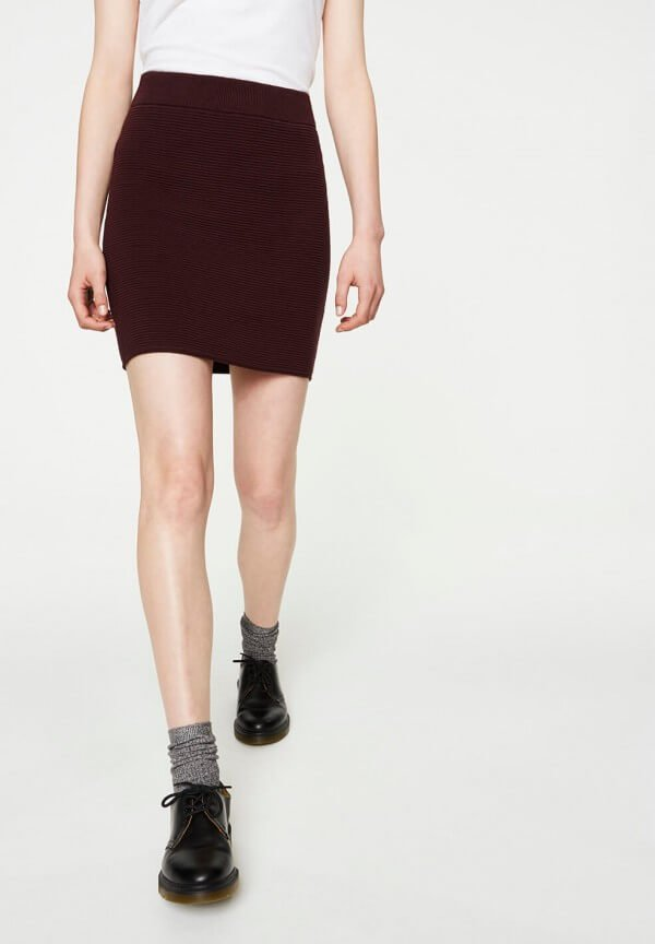 SKIRT ENID DARK BORDEAUX