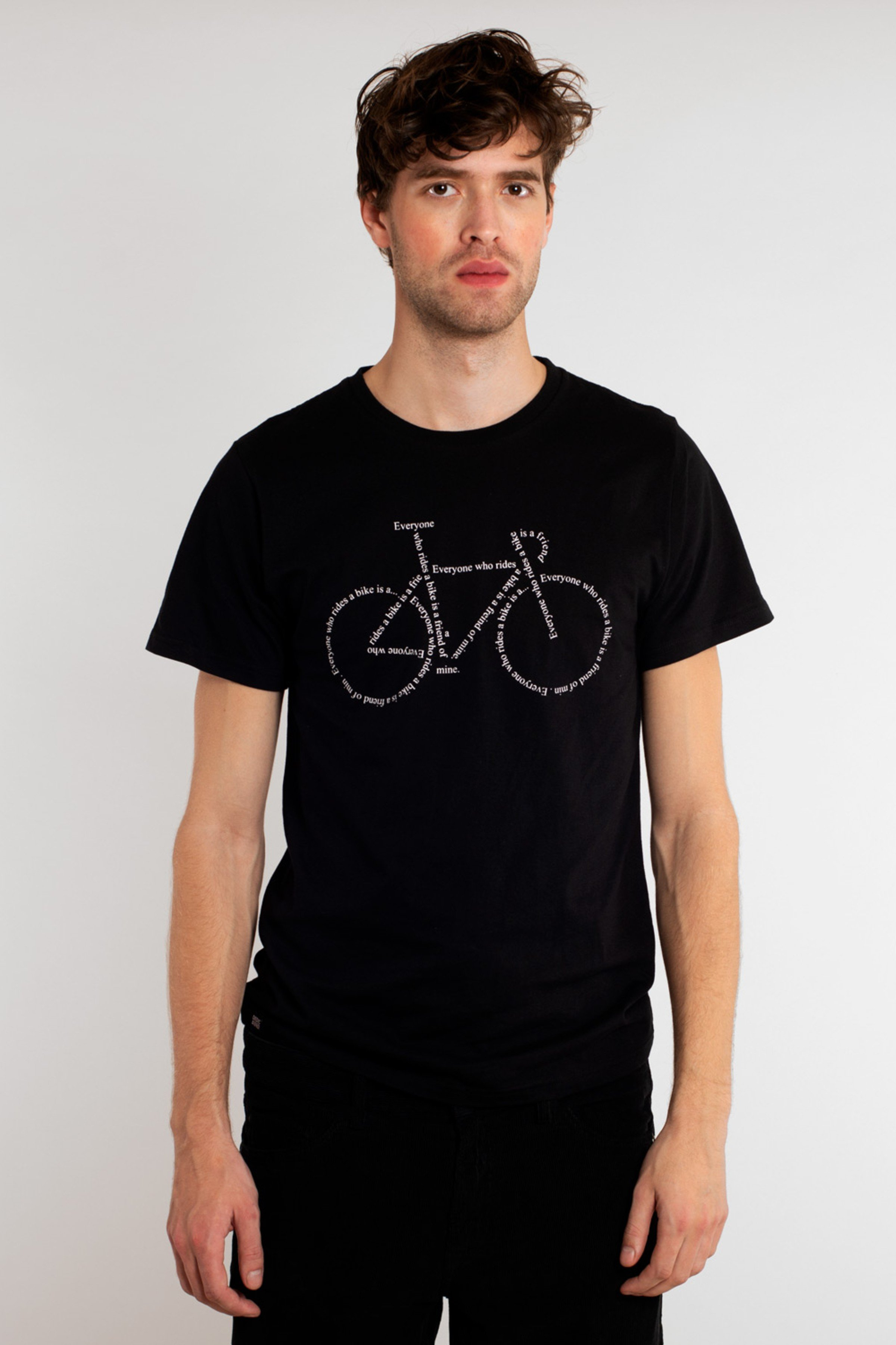 T-Shirt Stockholm Text Bike Schwarz from LOVECO