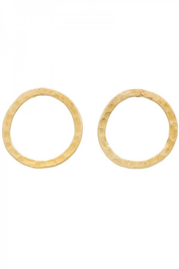 People Tree EARRINGS SIMPLE CIRCLE BRASS LOV12408 1
