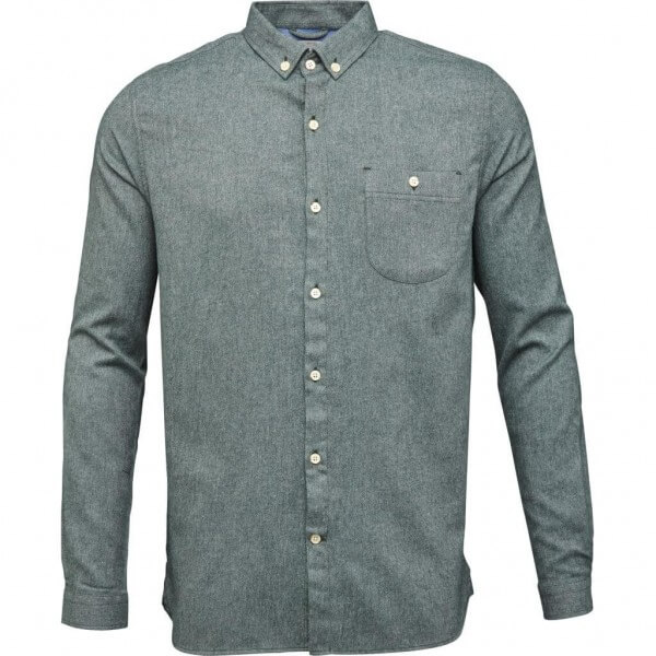KnowledgeCotton Apparel FLANNEL SHIRT MELANGE EFFECT GRÜN LOV11528 1