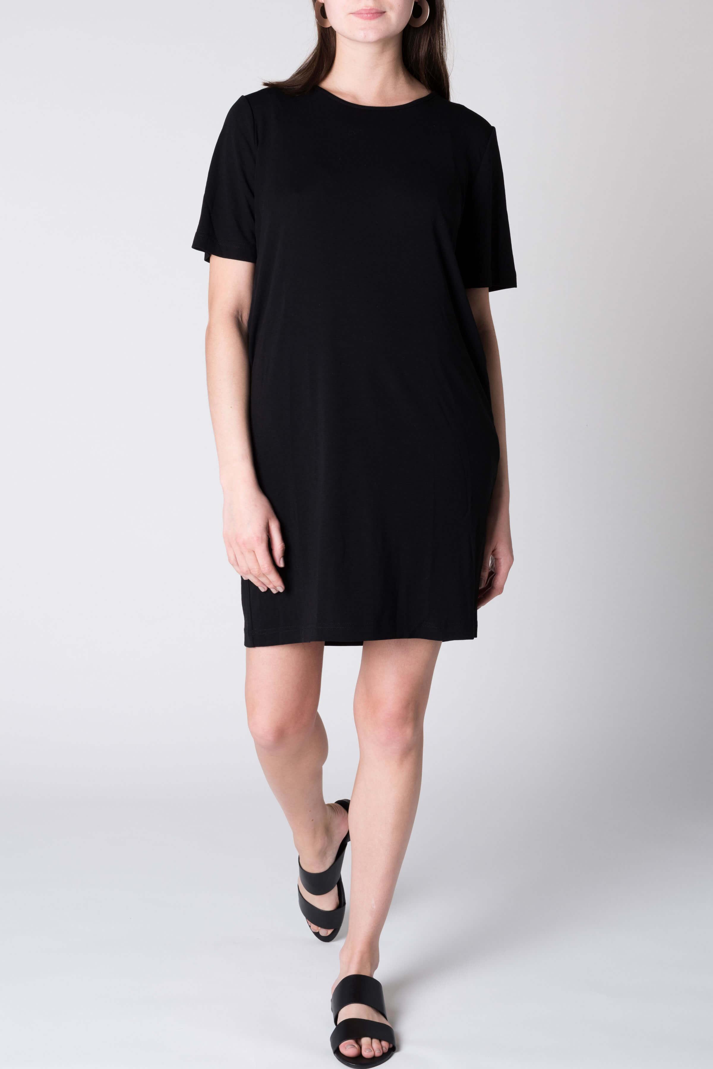 T-Shirt Dress Iris Schwarz