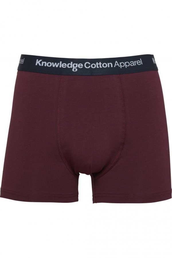 KnowledgeCotton Apparel BOXERSHORTS MAPLE 1PACK ROT LOV13855 1
