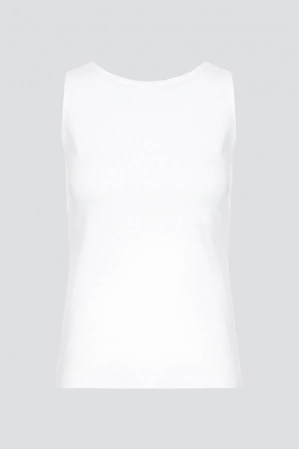 esthétique TOP JERSEY OHNE KRAGEN WEISS LOV12044 1
