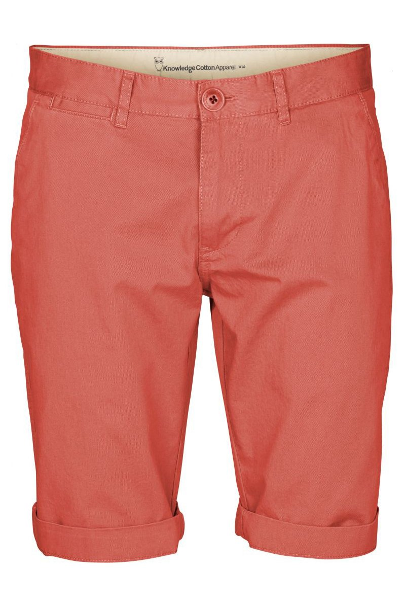 Shorts Twisted Twill Spiced Coral Rot from LOVECO
