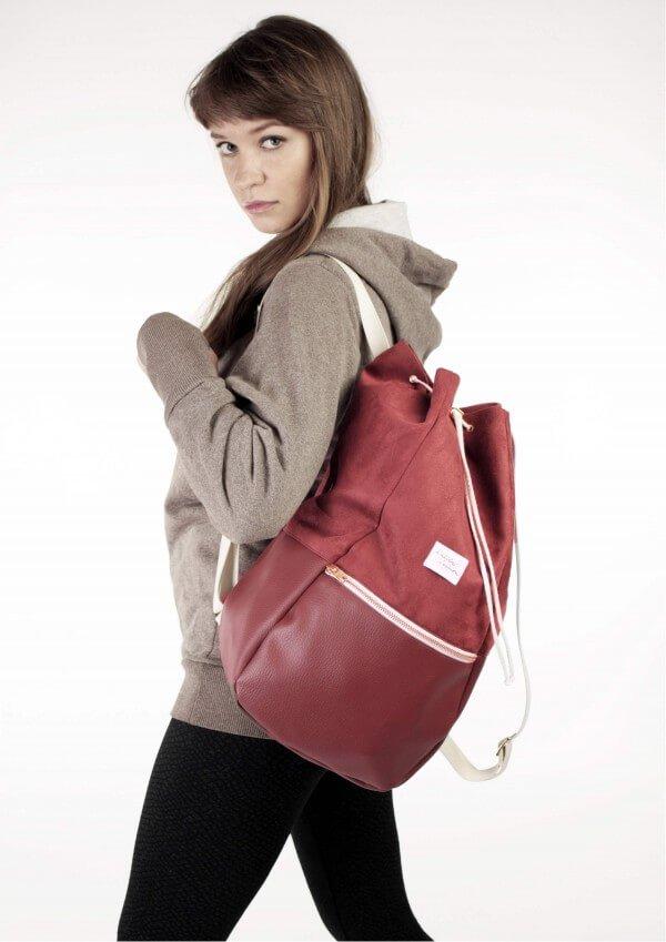 kaliber fashion RUCKSACK LOVE & JOY DUNKELROT LOV11571 1
