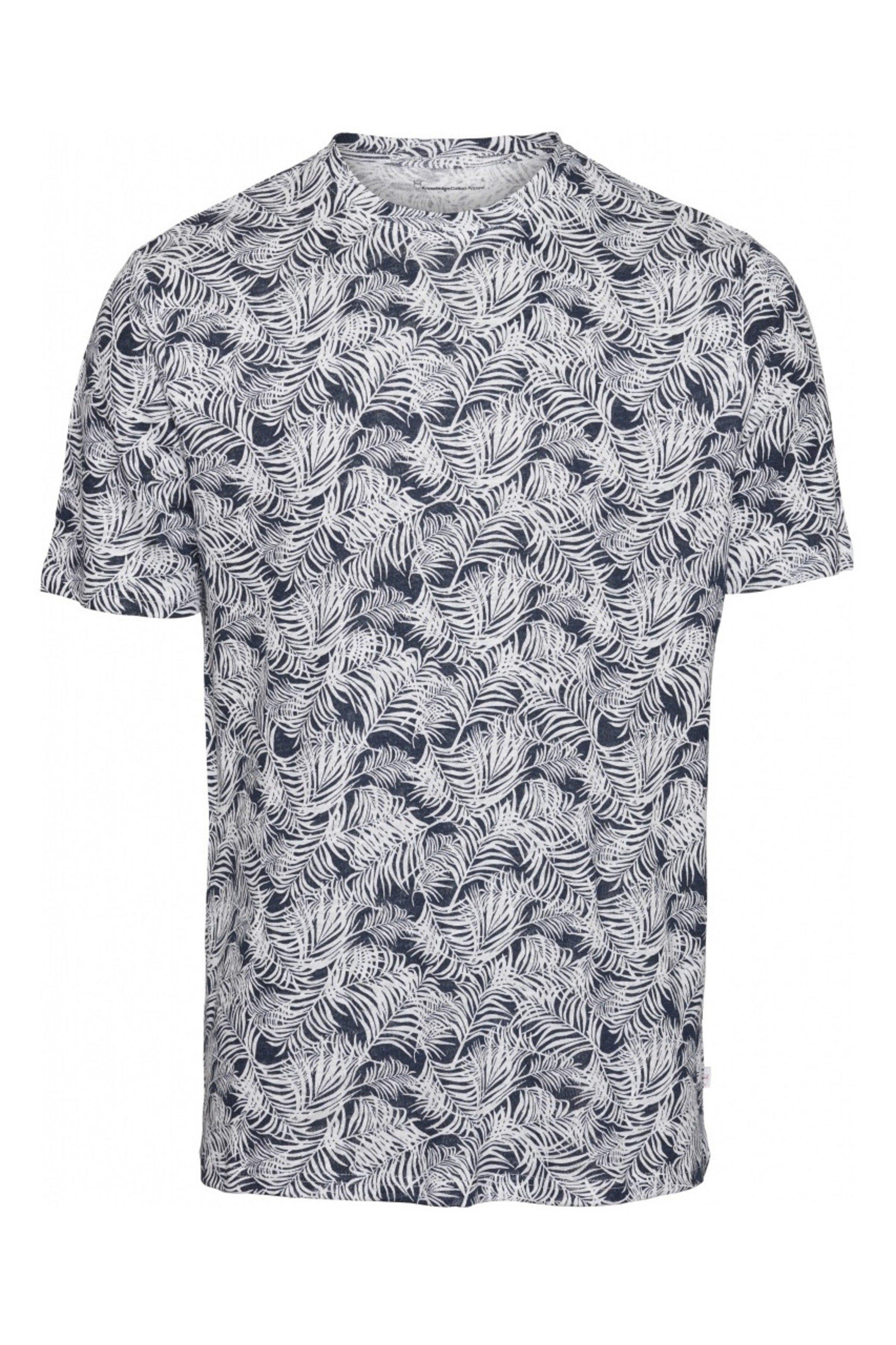 T-Shirt Alder Leinen Palmen Blau