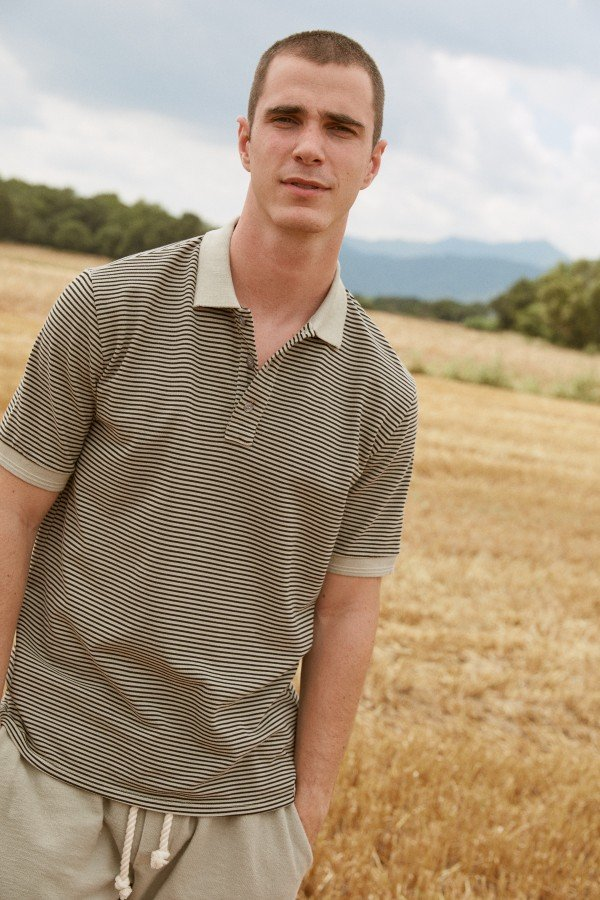 Sweaterhouse POLO T-SHIRT STREIFEN WEISS LOV13580 1