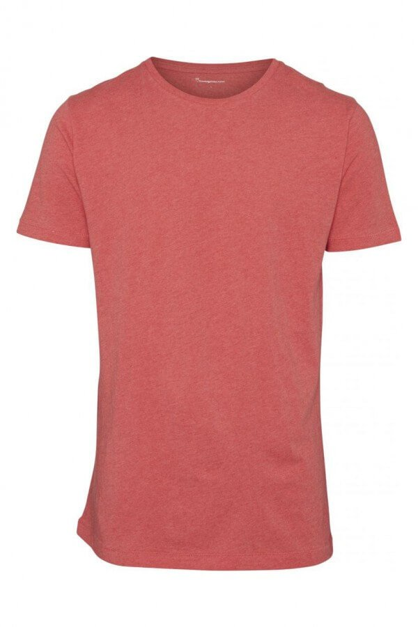 KnowledgeCotton Apparel T-SHIRT BASIC REGULAR FIT O-NECK ROT LOV13115 1