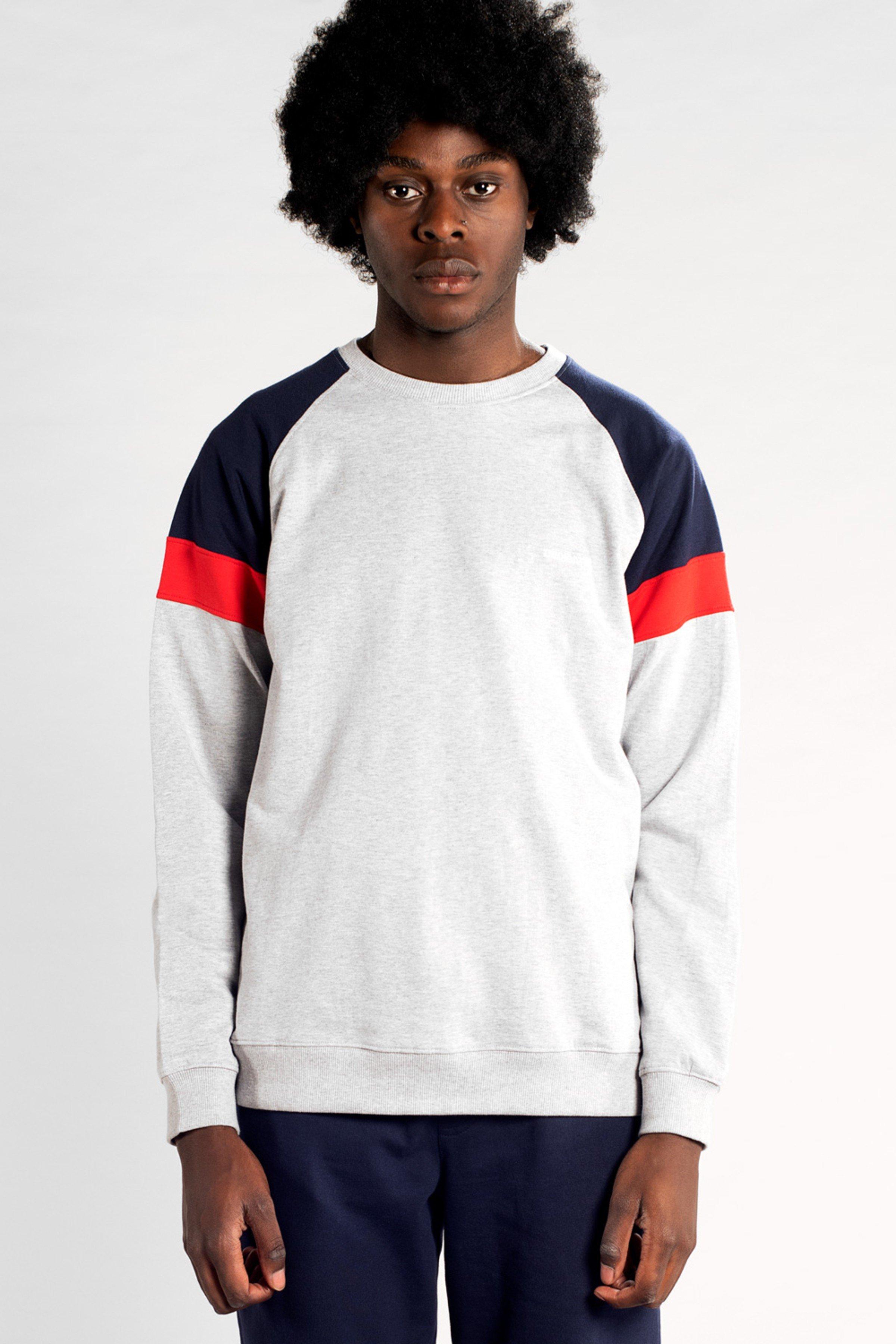 Sweatshirt Malmoe Split Grau