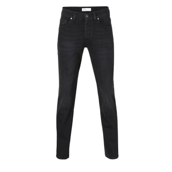Jeans Mens Slim Straight Black Kyanos