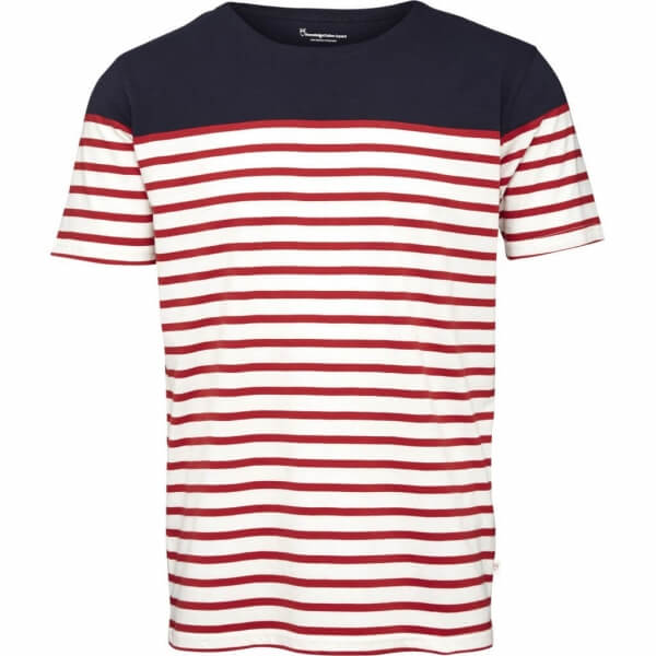 Bild-KnowledgeCottonApparel-TshirtYarndyedStripes-highriskred-001
