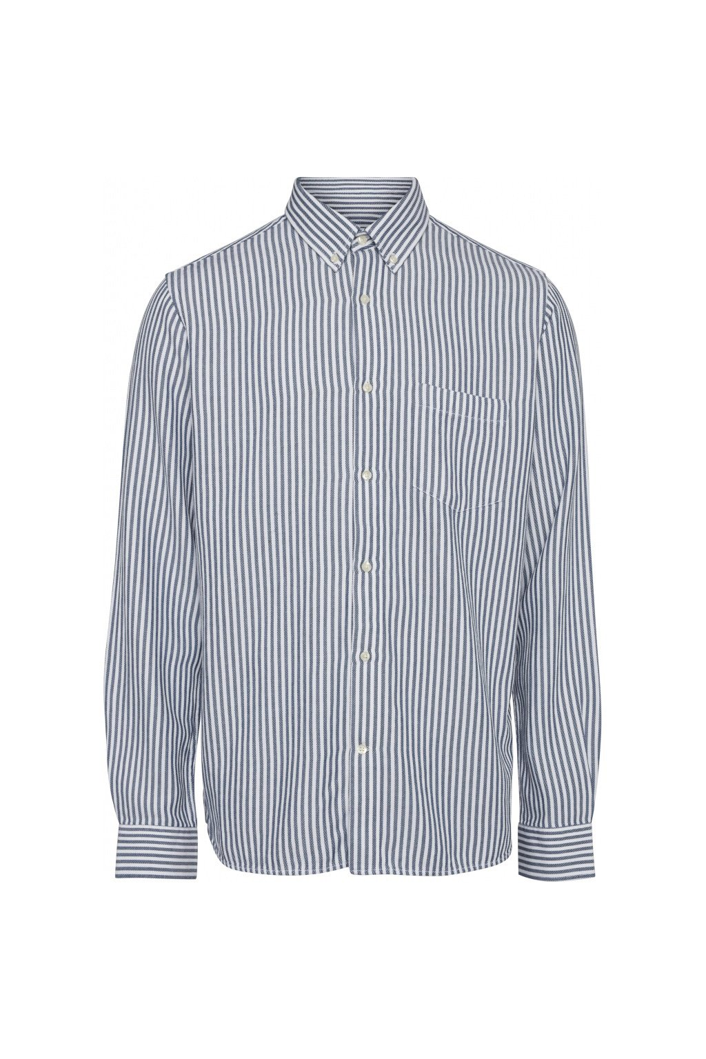 Hemd Elder Striped Blau