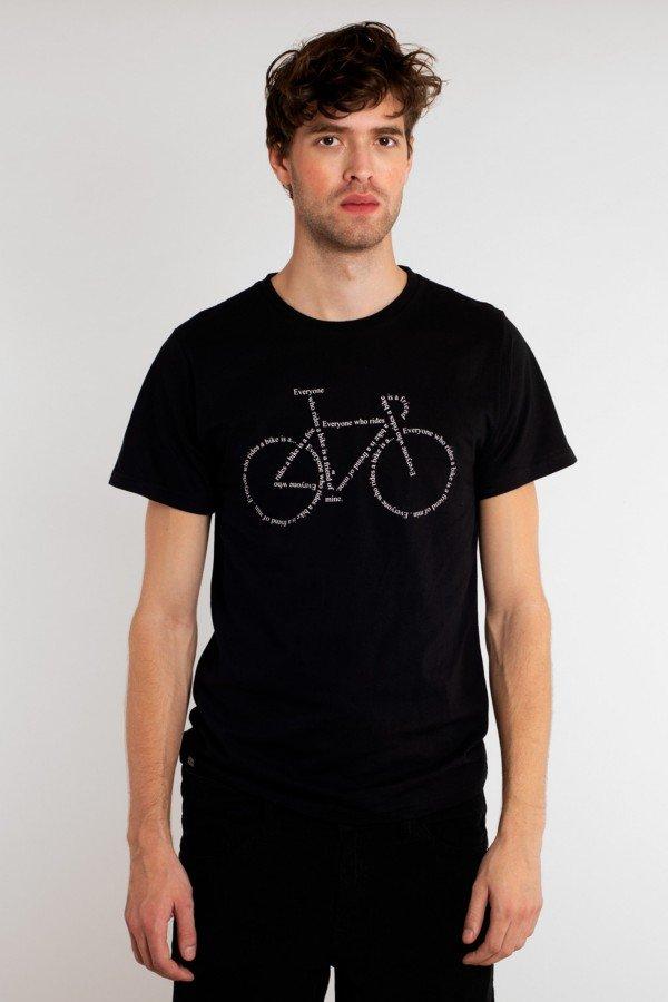 dedicated T-Shirt Stockholm Text Bike Schwarz LOV13993 1