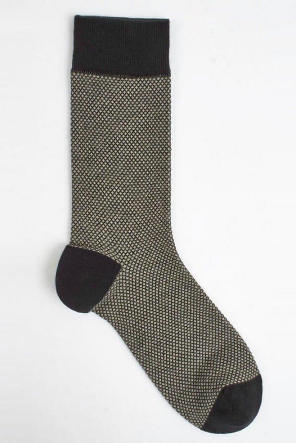 VNS Organic Socks SOCKEN DOTS BEIGE SCHWARZ LOV11745 1