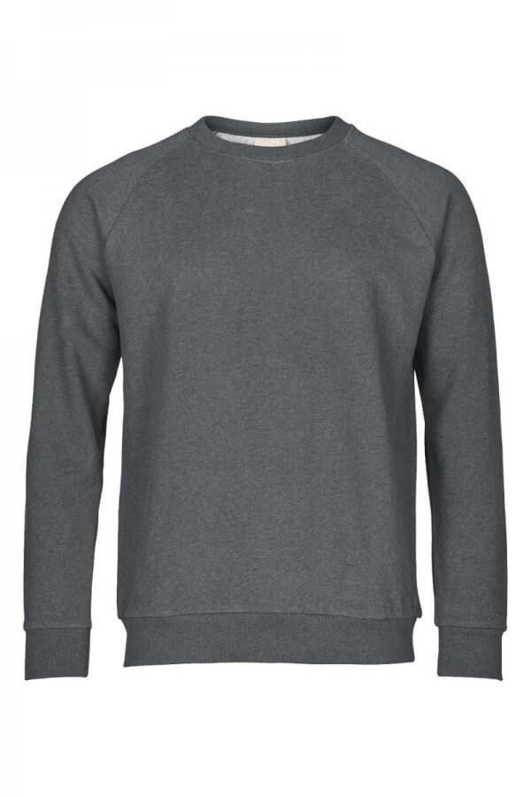 KnowledgeCotton Apparel SWEATSHIRT DARK GREY MELANGE LOV12366 1