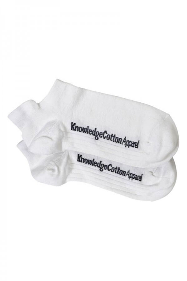 KnowledgeCotton Apparel FOOTIES - BAMBOO SOCKS 2-PACK WHITE LOV12362 1