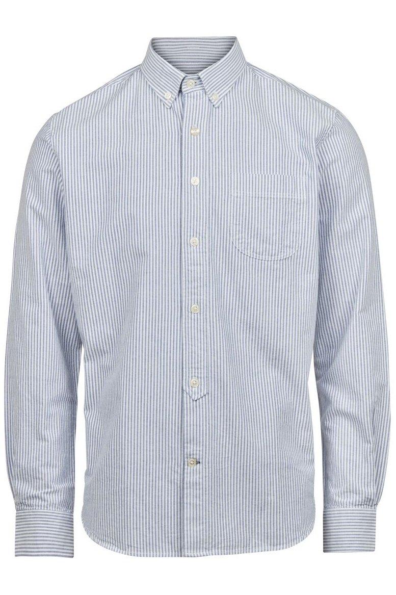 Hemd Button Down Oxford Streifen Blau