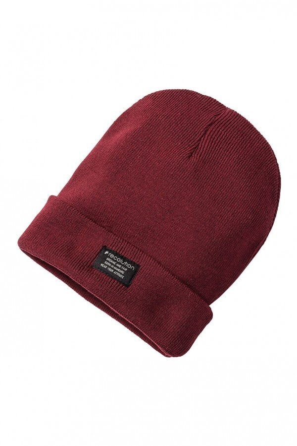Mütze Knit Beanie Dunkelrot