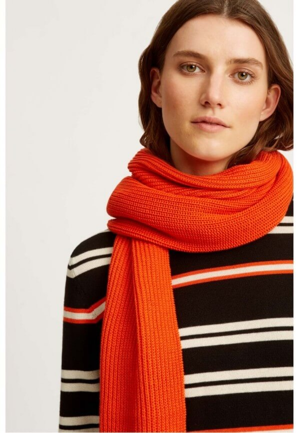 People Tree KNITTED SCARF ORANGE LOV11474 1