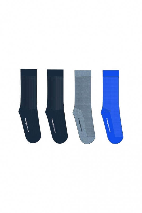 KnowledgeCotton Apparel SOCKEN 4 PACK SCHWARZ BLAU GRAU LOV11872 1