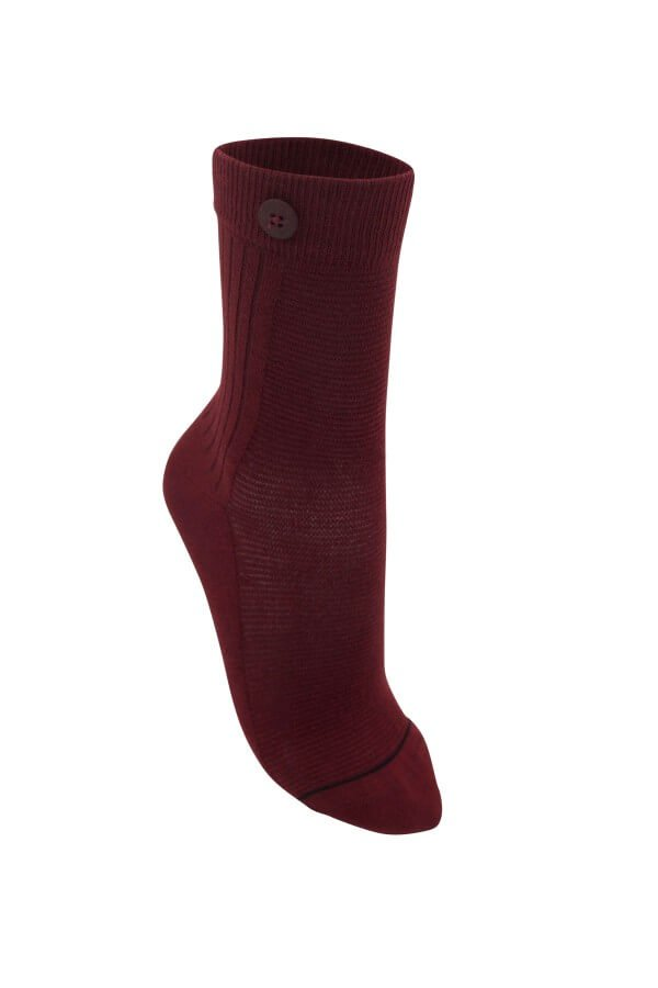 Qnoop SOCKEN 2 WAY RIB ROT LOV13047 1