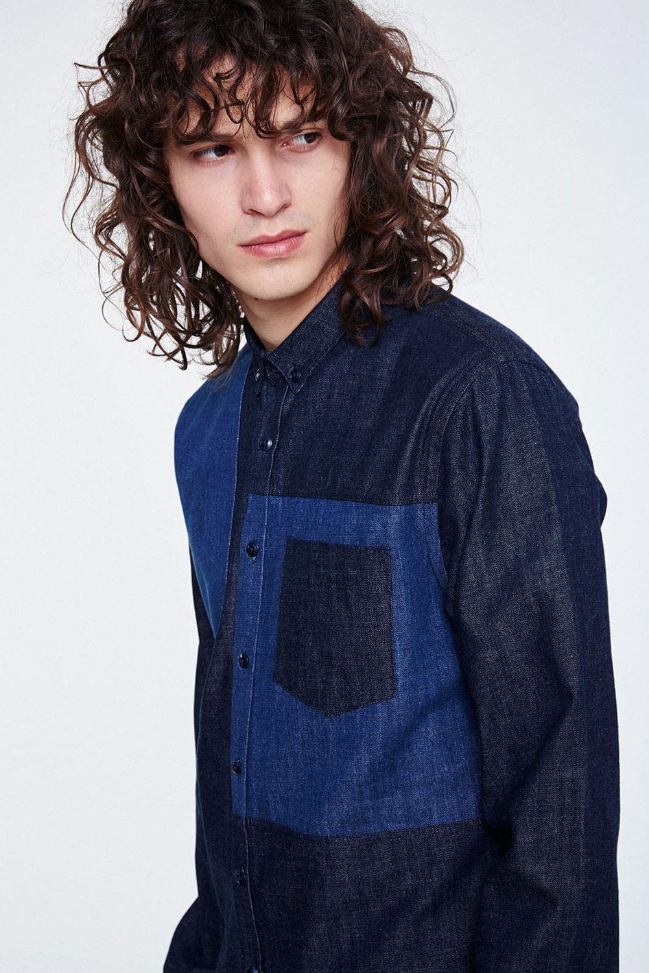 Denimhemd Raik Blau from LOVECO