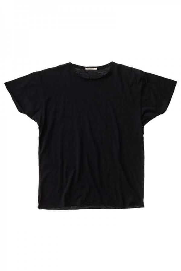 Nudie Jeans T-SHIRT ROGER SLUB BLACK LOV12602 1