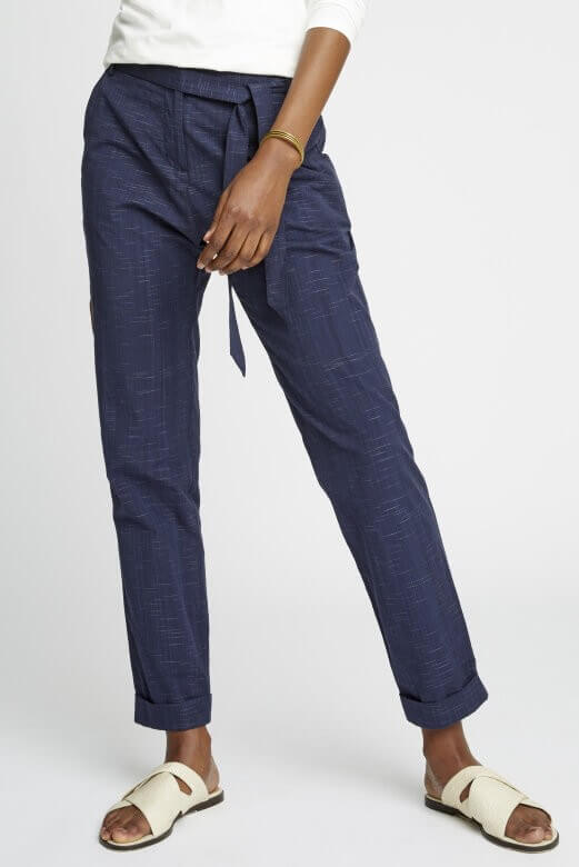 People Tree TROUSERS CARLY NAVY LOV12172 1