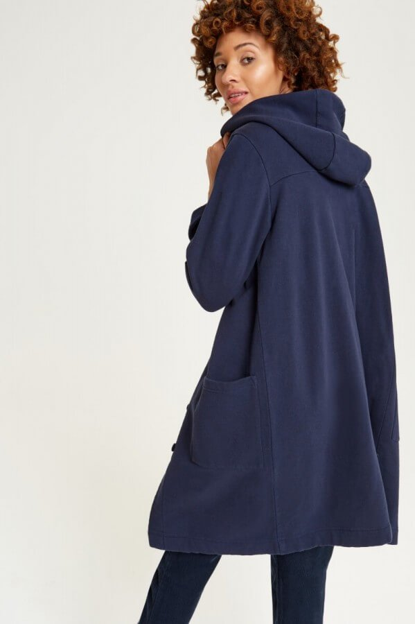 People Tree FLEECE COAT YVETTE NAVY LOV11346 1