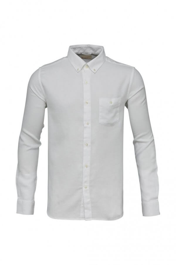KnowledgeCotton Apparel HEMD SMALL CHECKED WEAVED WEISS LOV12059 1