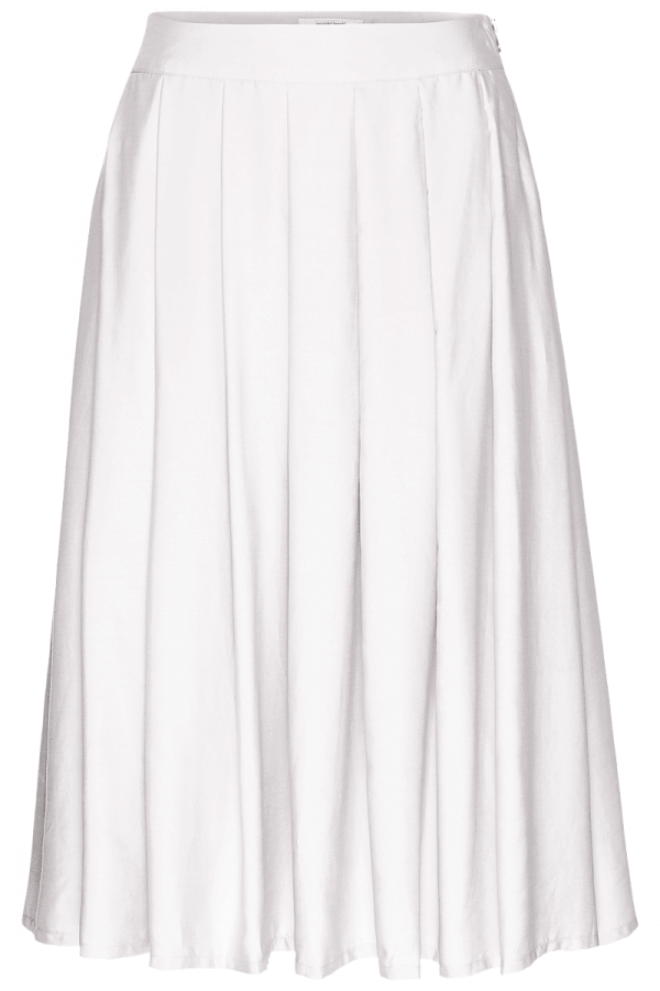 MIDI SKIRT TENCEL WHITE