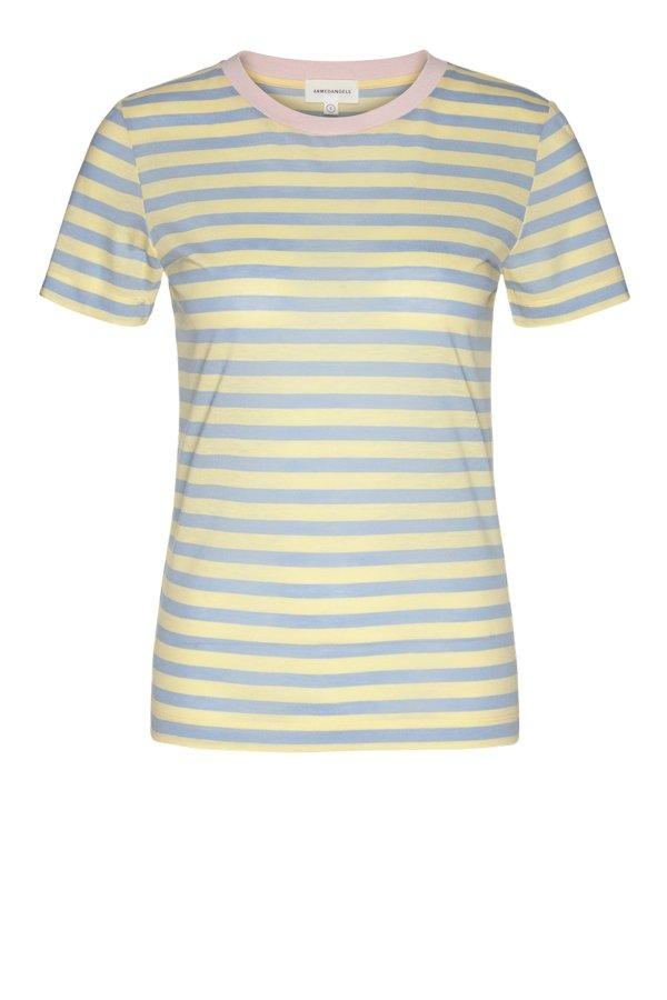 T-Shirt Lidaa Bold Stripes Vanilla Gelb