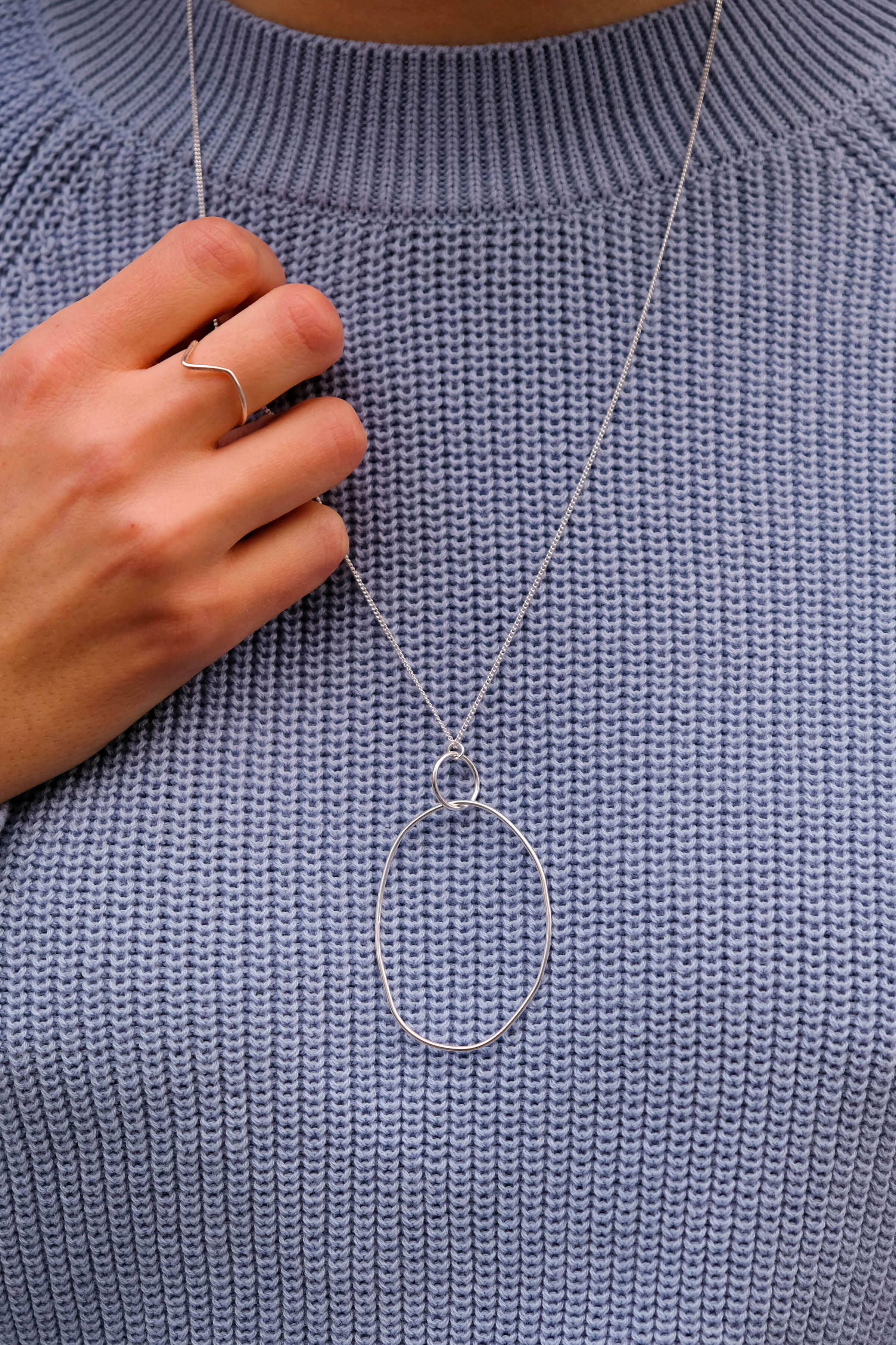 Halskette Oval Drop Silber from LOVECO