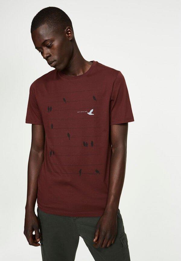 T-Shirt James Birds Online Grape Red