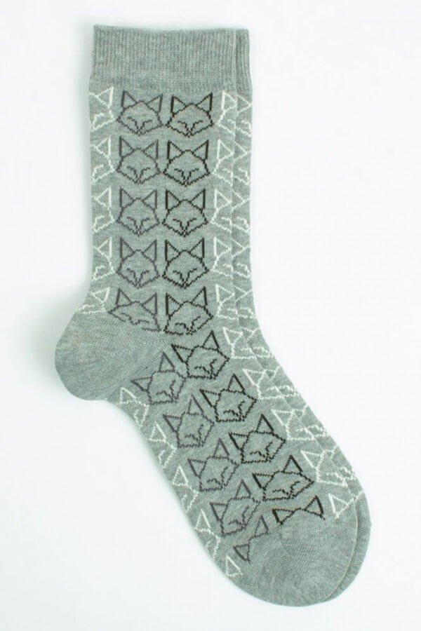 VNS Organic Socks SOCKEN CAT GRAU LOV11858 1