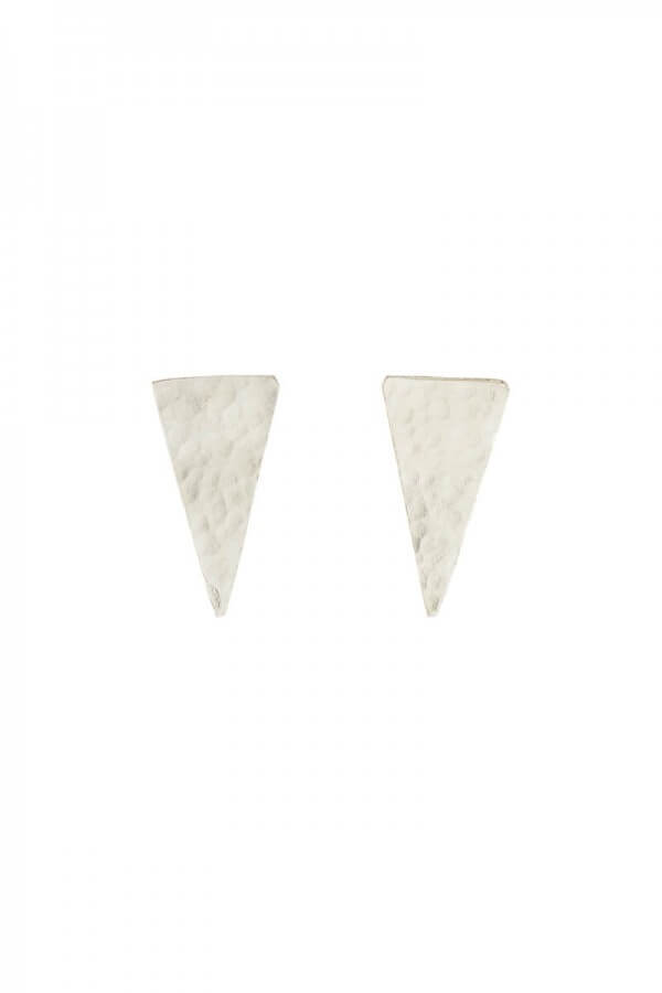 People Tree EARRINGS TRIANGLE STUD SILVER LOV12399 1